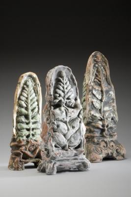 Shrine II, Shrine III, Shrine V, 2009 (left to right)
